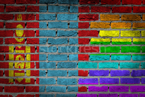 Dark brick wall - LGBT rights - Mongolia Stock photo © michaklootwijk