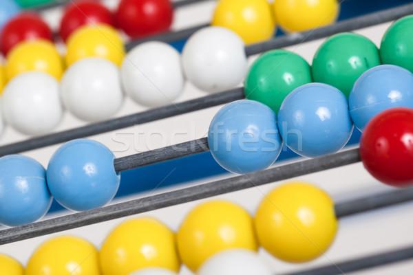 Közelkép öreg színes abakusz szelektív fókusz számológép Stock fotó © michaklootwijk