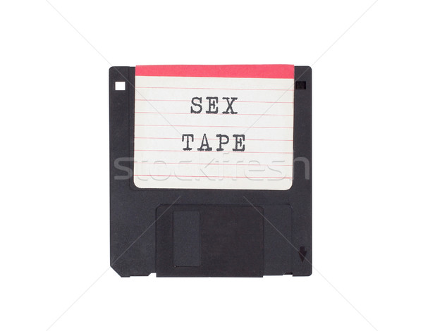 Disk destek yalıtılmış beyaz seks Stok fotoğraf © michaklootwijk