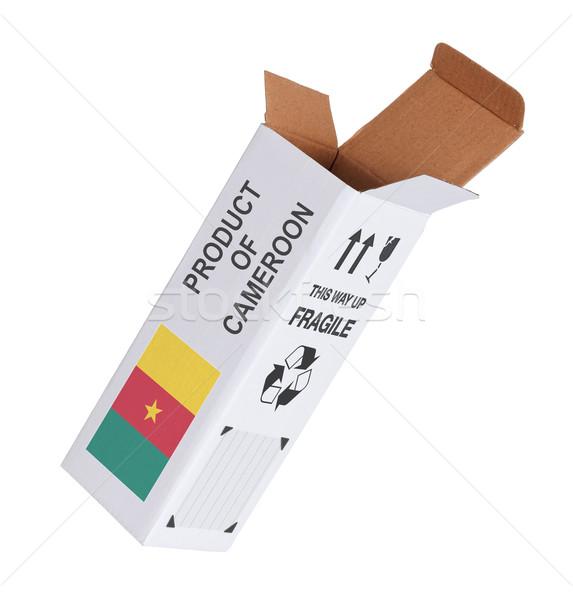 экспорт продукт Камерун бумаги окна Сток-фото © michaklootwijk