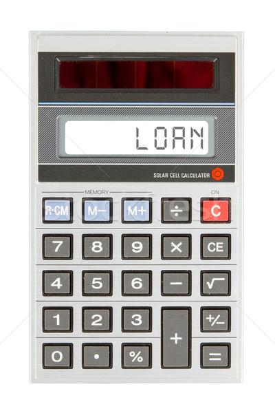 старые калькулятор заем текста отображения Сток-фото © michaklootwijk