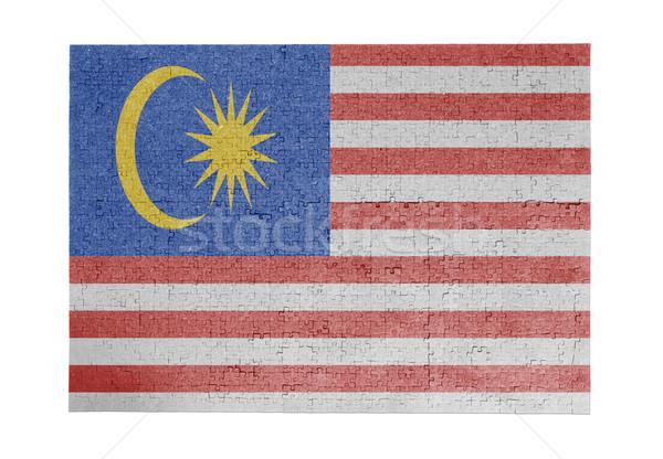 Grande 1000 peças Malásia bandeira Foto stock © michaklootwijk