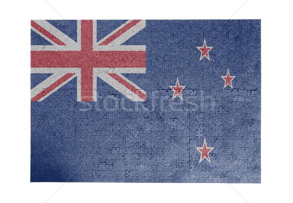 Nagy kirakós játék 1000 darabok Új-Zéland zászló Stock fotó © michaklootwijk