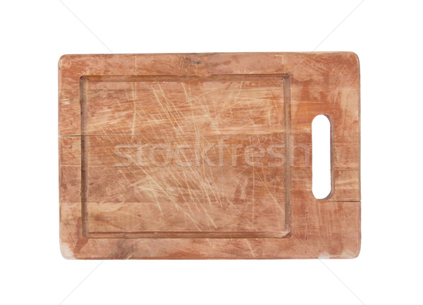 Used wooden chopping board isolated Stock photo © michaklootwijk