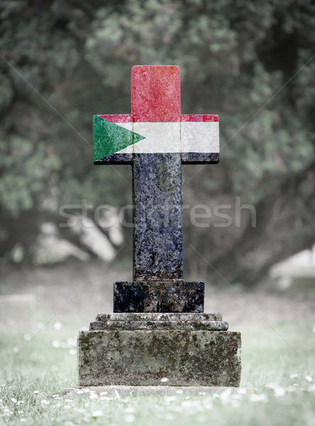 Gravestone in the cemetery - Sudan Stock photo © michaklootwijk