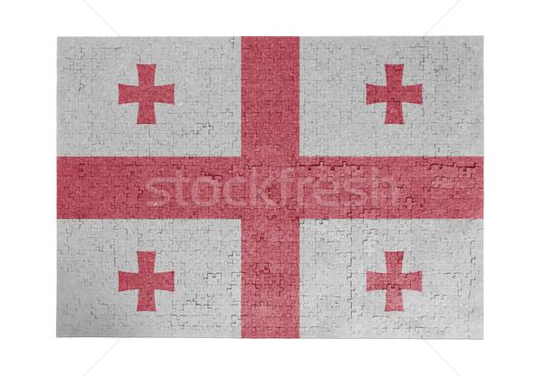 Büyük 1000 parçalar Georgia bayrak Stok fotoğraf © michaklootwijk