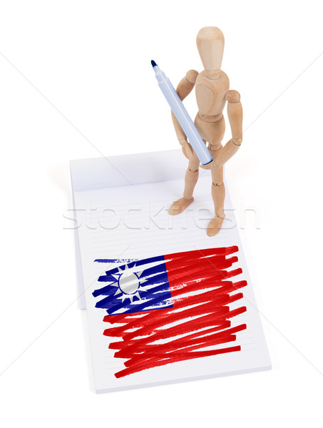 Wooden mannequin made a drawing - Taiwan Stock photo © michaklootwijk