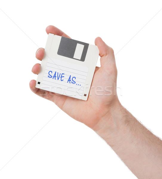 Schijf gegevensopslag ondersteuning geïsoleerd witte opslaan Stockfoto © michaklootwijk