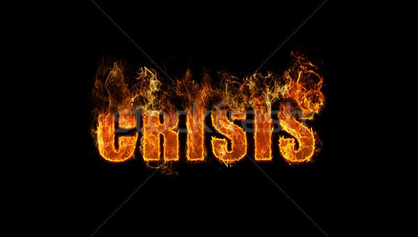 The word crisis burning Stock photo © michaklootwijk