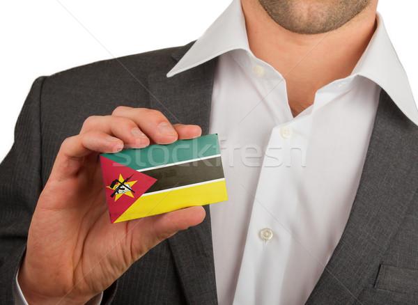 Empresário cartão de visita Moçambique bandeira trabalhador Foto stock © michaklootwijk