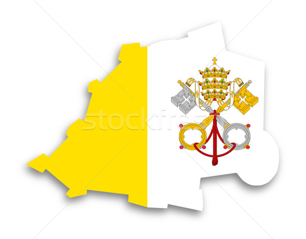 Harita Vatikan bayrak yalıtılmış şehir arka plan Stok fotoğraf © michaklootwijk