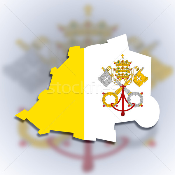 Mapa Cidade do Vaticano bandeira isolado cidade fundo Foto stock © michaklootwijk