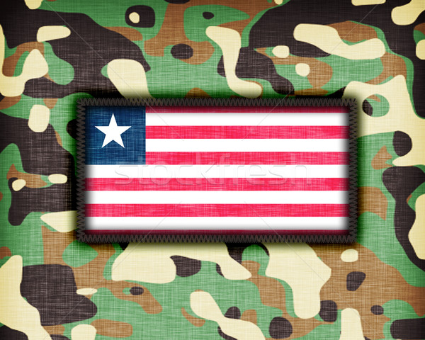Uniforme Libéria bandeira textura abstrato Foto stock © michaklootwijk