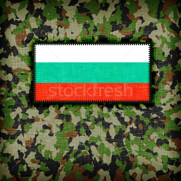 álca egyenruha Bulgária zászló textúra absztrakt Stock fotó © michaklootwijk