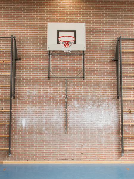 Interior ginásio escolas saltando alto cesta Foto stock © michaklootwijk