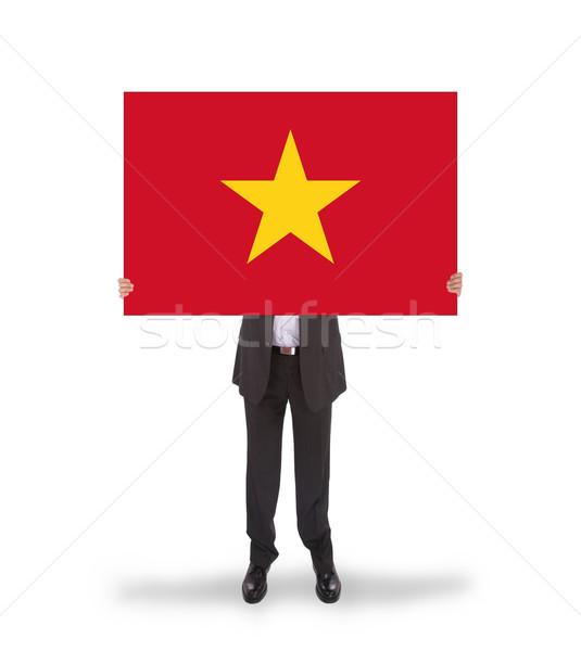 ビジネスマン ビッグ カード フラグ ベトナム ストックフォト © michaklootwijk