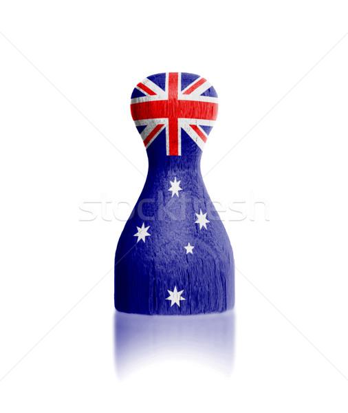 Ahşap Boyama Bayrak Avustralya Boya Stok Fotoğraf Micha