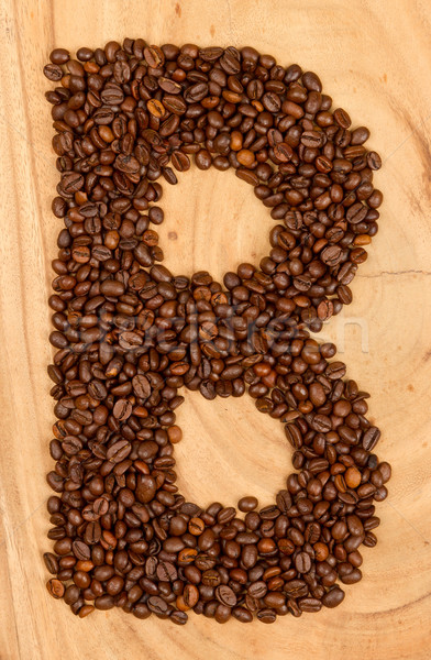 Letter B, alphabet from coffee beans Stock photo © michaklootwijk