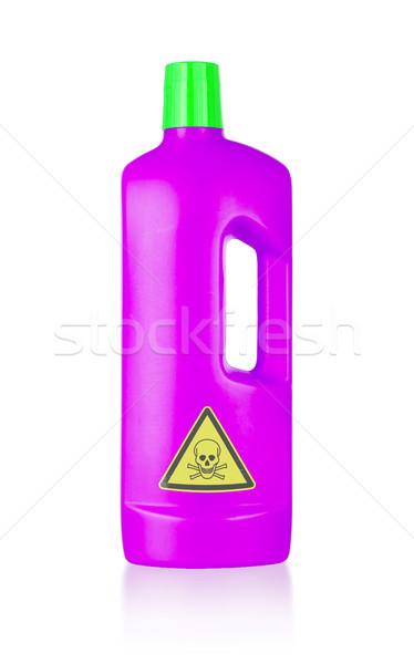 Plástico garrafa venenoso isolado branco grupo Foto stock © michaklootwijk
