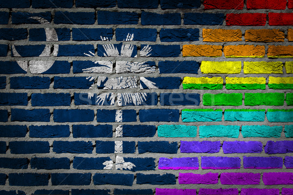 Dark brick wall - LGBT rights - South Carolina Stock photo © michaklootwijk