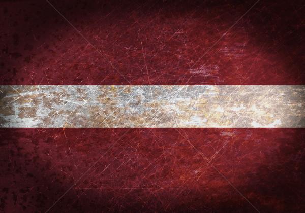 Eski paslı Metal imzalamak bayrak siyah Stok fotoğraf © michaklootwijk