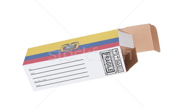 Exporteren product Ecuador papier vak Stockfoto © michaklootwijk