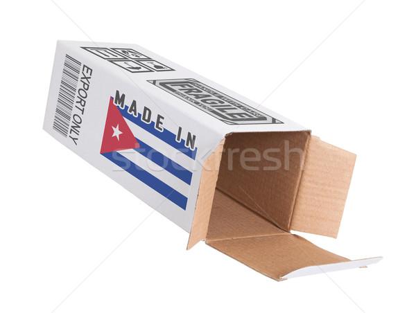 エクスポート 製品 キューバ 紙 ボックス ストックフォト © michaklootwijk