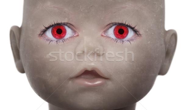 Scary Puppe Gesicht menschlichen schauen Augen Stock foto © michaklootwijk