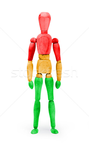 Wood figure mannequin with bodypaint - Traffic light, red, orang Stock photo © michaklootwijk