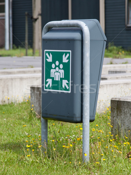 Evacuation assembly point sign Stock photo © michaklootwijk