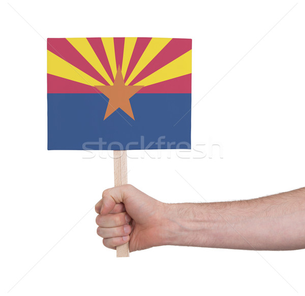 手 小 カード フラグ アリゾナ州 ストックフォト © michaklootwijk