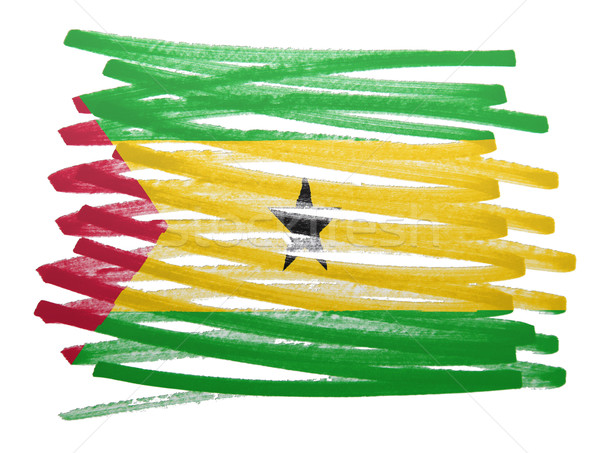 Flag illustration - Sao Tome and Principe Stock photo © michaklootwijk