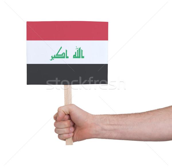 Hand klein kaart vlag Irak Stockfoto © michaklootwijk