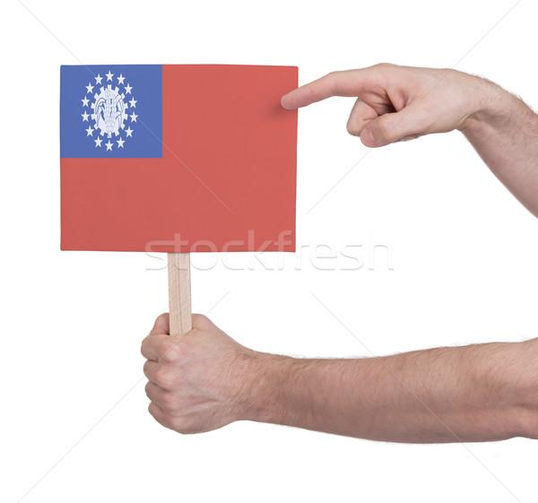 стороны небольшой карт флаг Мьянма Сток-фото © michaklootwijk