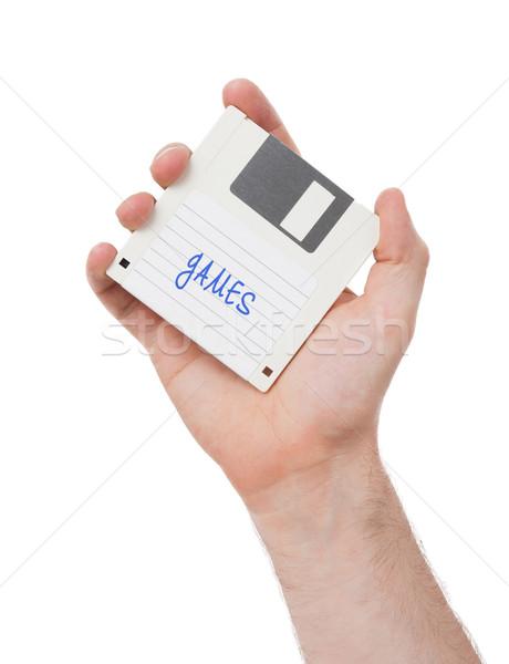 Stockfoto: Schijf · gegevensopslag · ondersteuning · geïsoleerd · witte · kantoor