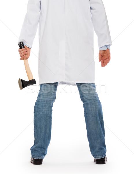 Gonosz medikus tart kicsi balta izolált Stock fotó © michaklootwijk