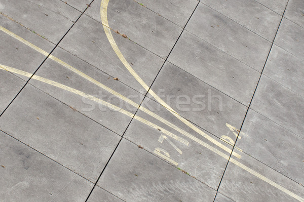 Stock photo: Airfield - marking on taxiway