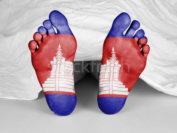 Dead body under a white sheet Stock photo © michaklootwijk