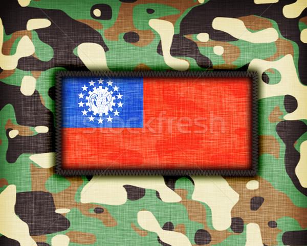 Uniforme Mianmar bandeira textura abstrato Foto stock © michaklootwijk