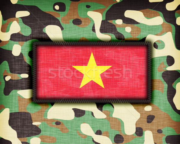 Uniforme Vietnam bandiera abstract verde Foto d'archivio © michaklootwijk