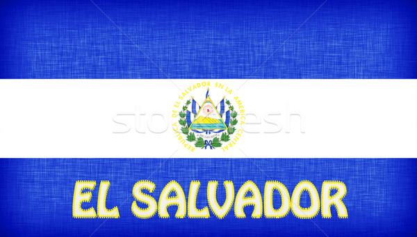 Bandeira El Salvador cartas gráfico Foto stock © michaklootwijk