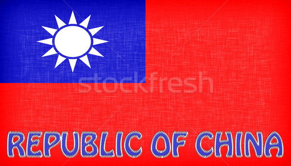 Linen flag of Taiwan Stock photo © michaklootwijk