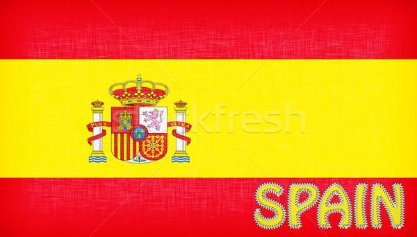 Bayrak İspanya harfler kâğıt dizayn arka plan Stok fotoğraf © michaklootwijk