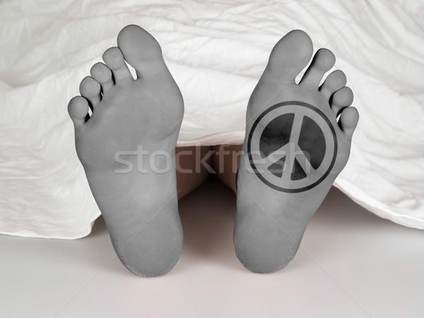 Trup biały arkusza snem śmierci pokoju Zdjęcia stock © michaklootwijk