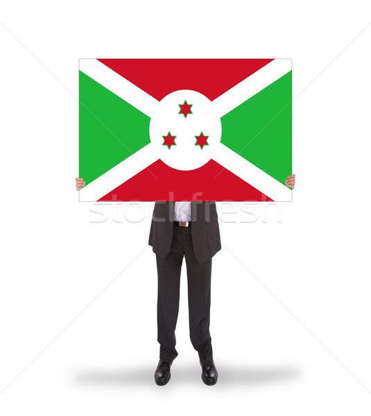 Empresário grande cartão bandeira Burundi Foto stock © michaklootwijk