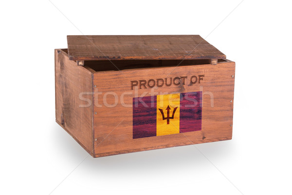 Stockfoto: Houten · geïsoleerd · witte · product · Barbados