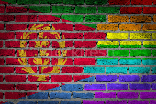 Dark brick wall - LGBT rights - Eritrea Stock photo © michaklootwijk