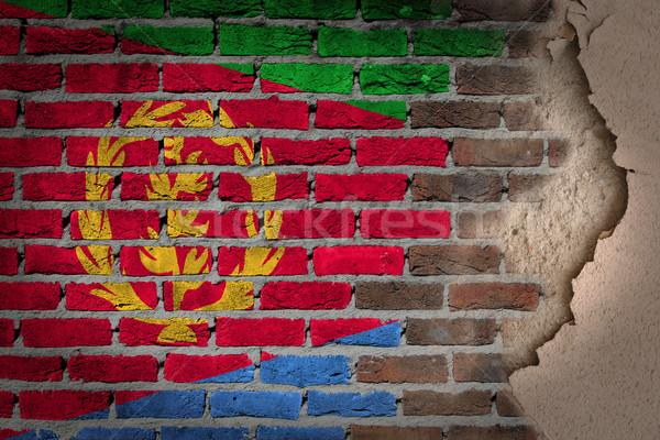 Dark brick wall with plaster - Eritrea Stock photo © michaklootwijk