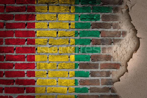 Dark brick wall with plaster - Guinea Bissau Stock photo © michaklootwijk