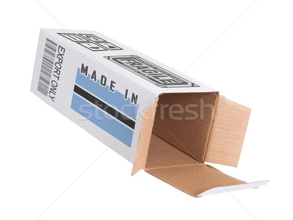 Ihracat ürün Botsvana kâğıt kutu Stok fotoğraf © michaklootwijk
